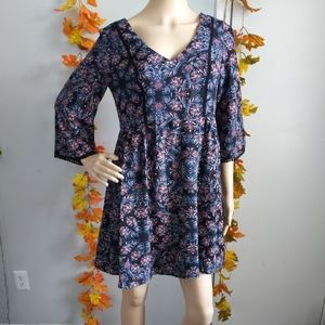 NWT FLARE DRESS LILY ROSE FLORAL